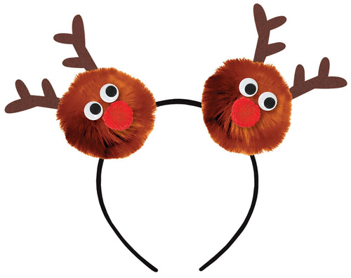 Amscan Christmas Child Reindeer Pom-Pom Headband