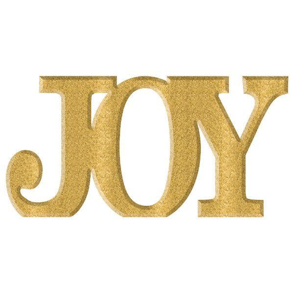 Amscan Christmas Glitter Gold Joy Sign