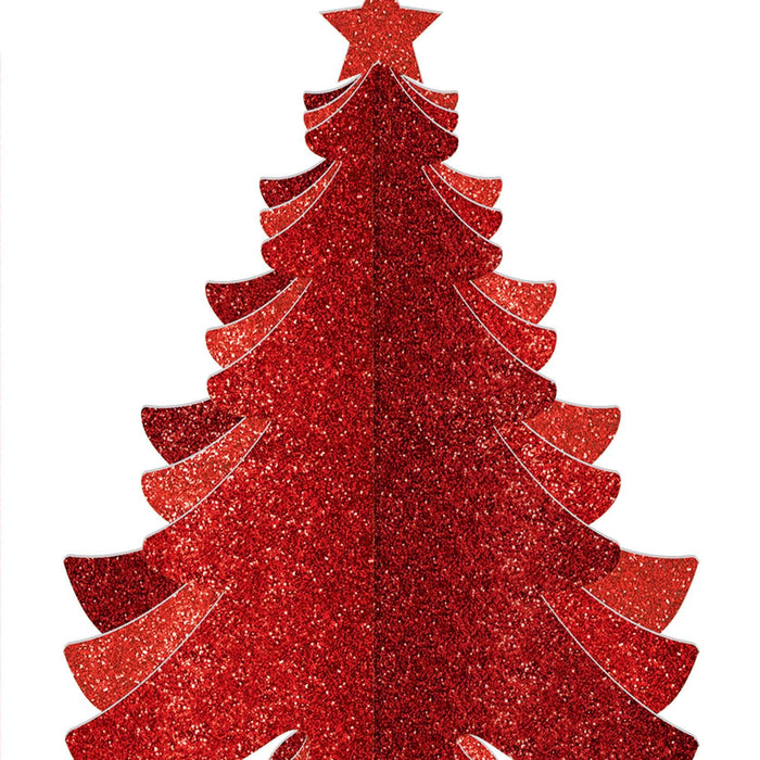 Amscan Christmas Glitter Red Christmas Tree