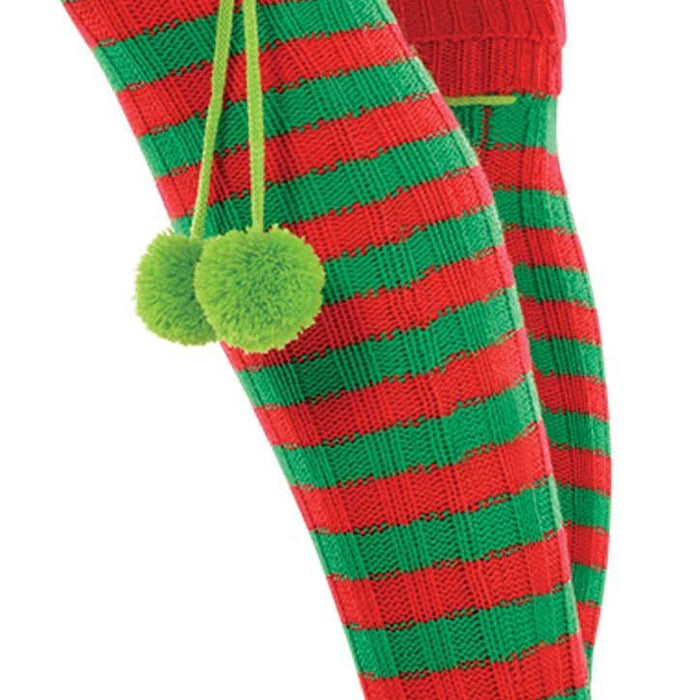 Amscan Christmas Holiday Elf Boot Socks