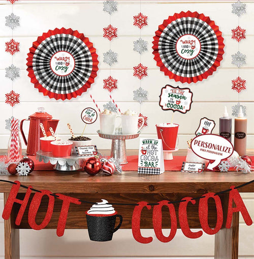 Amscan Christmas Hot Cocoa Bar Decorating Kit 23pc