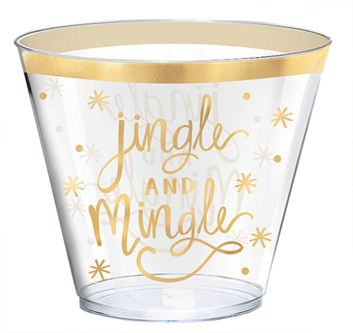 Amscan Christmas Jingle & Mingle Plastic Cups 30ct