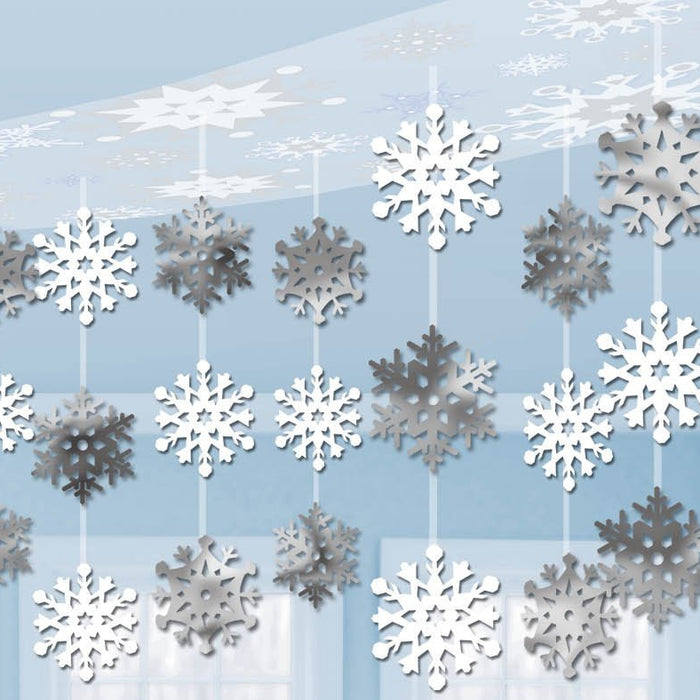 Amscan Christmas Snowflake Ceiling Decoration