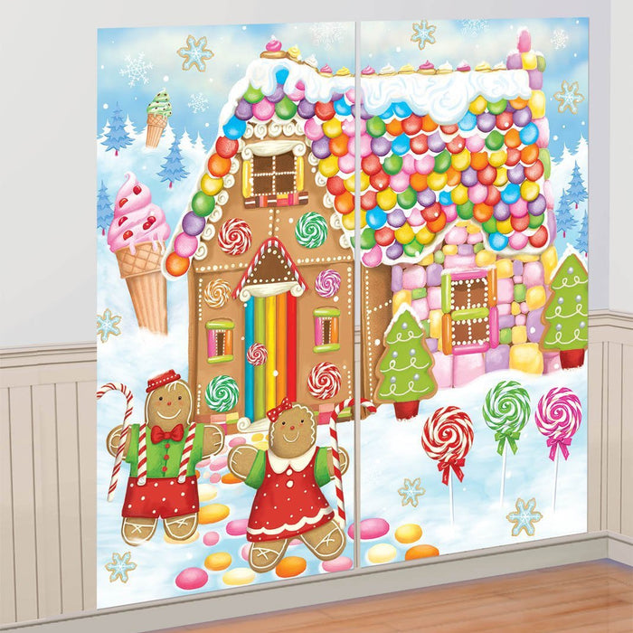Amscan Christmas Sweet Holiday Scene Setter