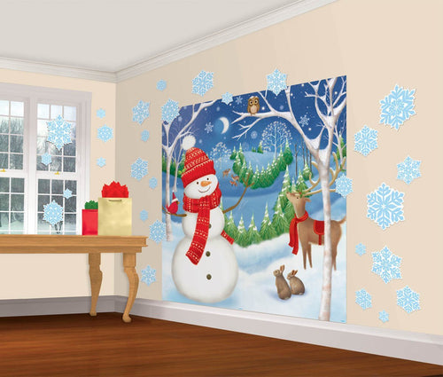 Amscan Christmas Winter Wall Decorations 32pc