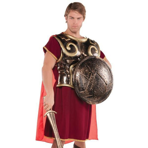 Amscan Costume Accessories Adult Spartan Chest Plate With Cape