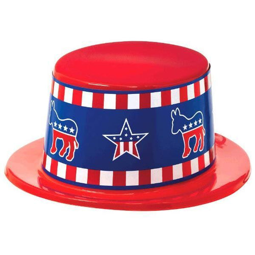 Amscan Costume Accessories Democratic Plastic Top Hat