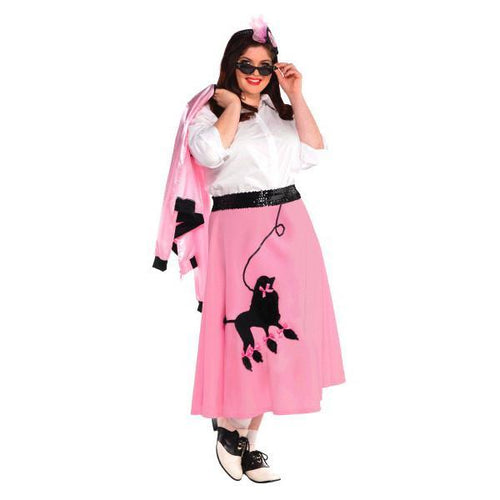 Amscan Costumes Adult Plus Size Pink Poodle Skirt