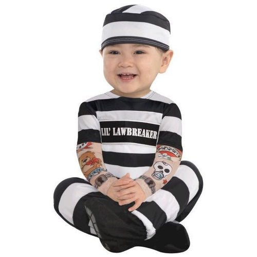 Amscan Costumes Baby Lil' Law Breaker Prisoner Costume - 0-6 Months