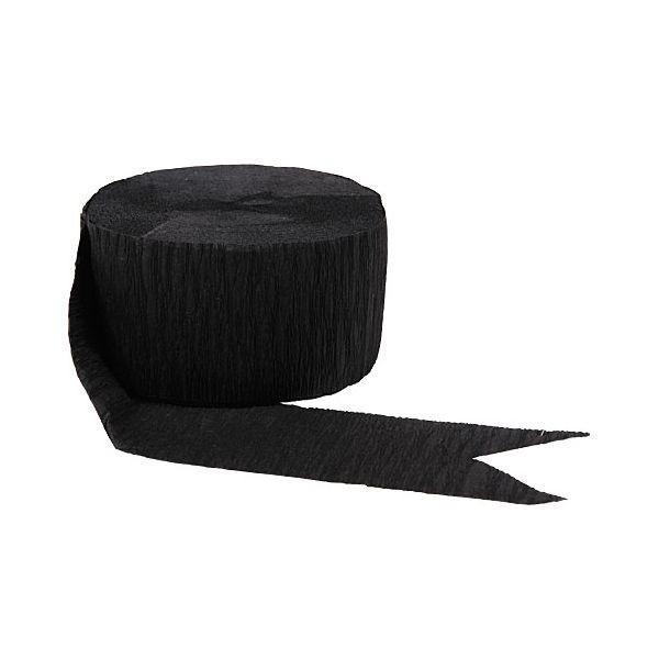 Amscan Decorations Black Crepe Streamer Roll