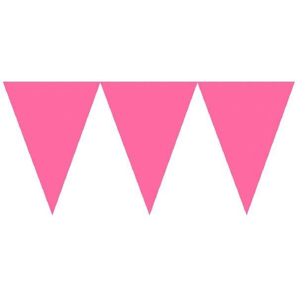 Amscan Decorations Bright Pink Paper Pennant Banner