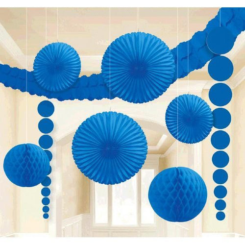 Amscan Decorations Bright Royal Blue Decorating Kit