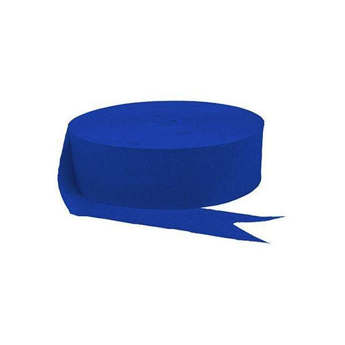 Amscan Decorations Royal Blue Jumbo Crepe Streamer Roll 500ft