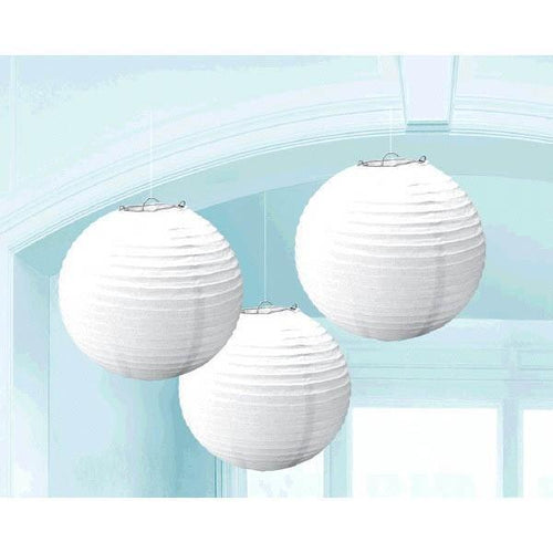 Amscan Decorations White Paper Lanterns 3ct