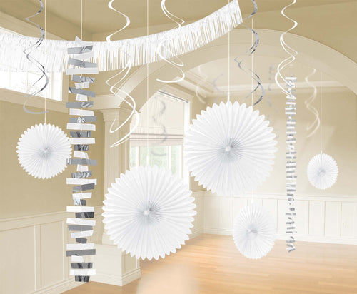 Amscan Decorations White & Silver Decorating Kit 18pc