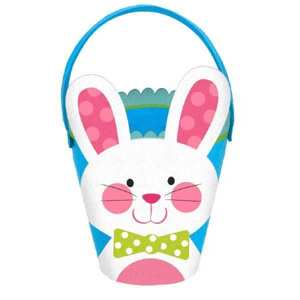 Amscan Easter Blue Bunny Easter Egg Bucket