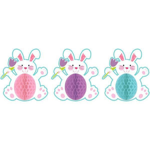 Amscan Easter Easter Bunny Honeycomb Hanging Decorations