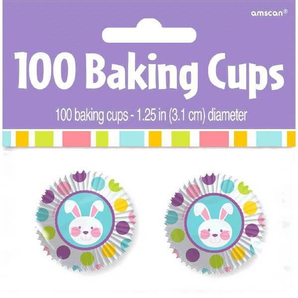 Amscan Easter Easter Bunny Mini Baking Cups 100ct