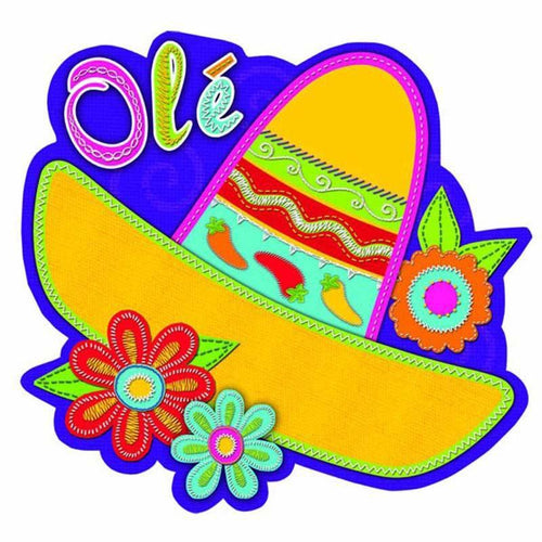 Amscan Fiesta Sombrero with Flower Cutout
