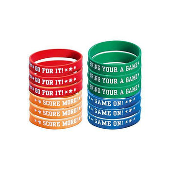 Amscan Football Attitude Football Wristbands 12ct