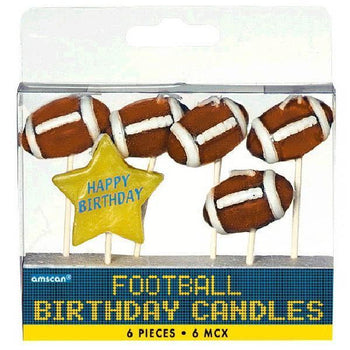 Amscan Football Football Birthday Toothpick Candles