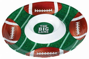 Amscan Football Football Chip & Dip Snack Tray