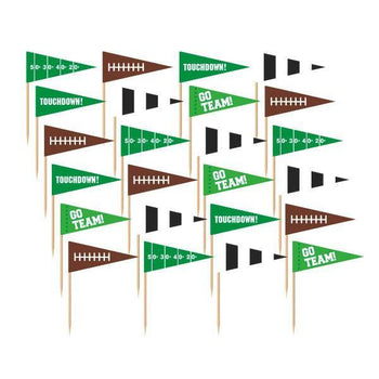 Amscan Football Football Cupcake Flag Picks 36ct