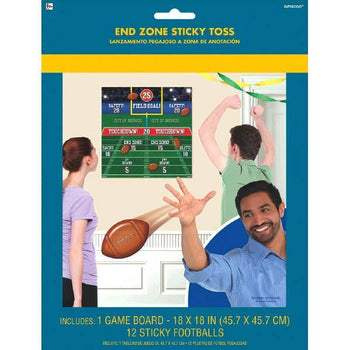 Amscan Football Football End Zone Sticky Toss Game