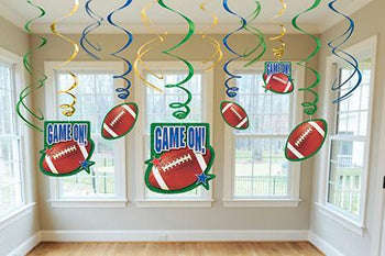 Amscan Football Football Hanging Swirl Decorations