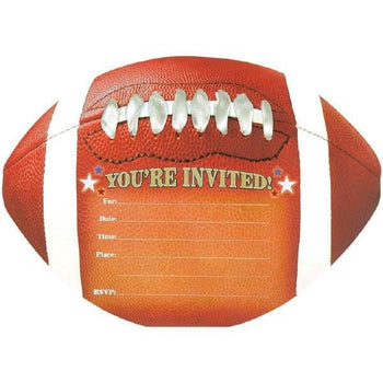Amscan Football Football Jumbo Novelty Invitations 8ct