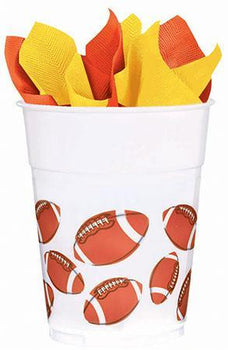 Amscan Football Football Plastic 14oz Cups 8ct