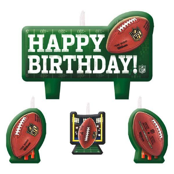 Amscan Football NFL Football Birthday Candle Set