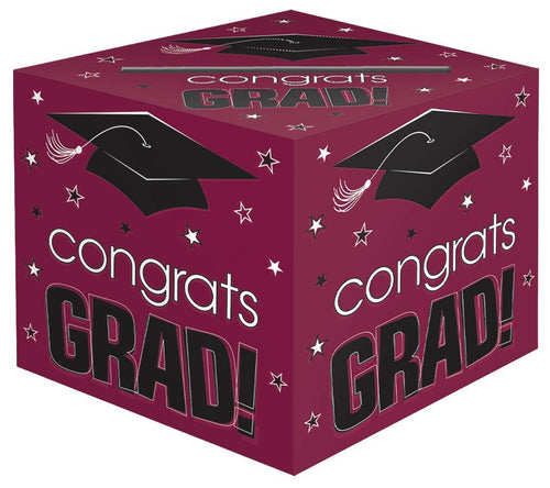 Amscan Graduation Berry Graduation Card Box Hold
