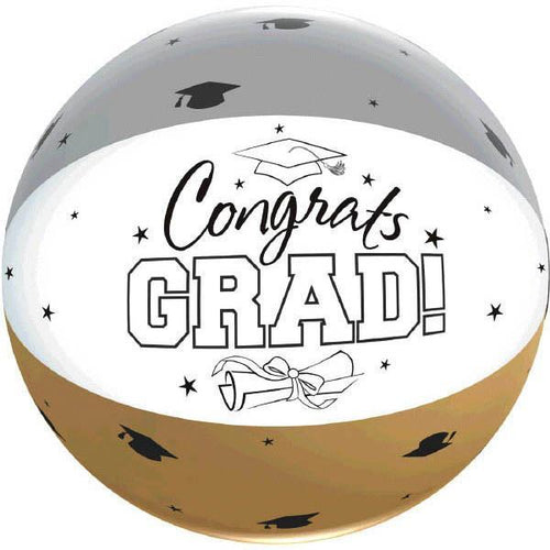 Amscan Graduation Black, Silver & gold Autograph Graduation Beach Ball