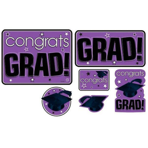 Amscan Graduation Co Mega Value Pack Grad Prple