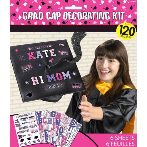Amscan Graduation Diva Grad Cap Decorating Kit