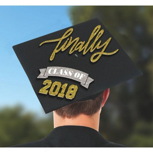 Amscan Graduation Finally Class of 2018 Graduation Cap Decorating Kit