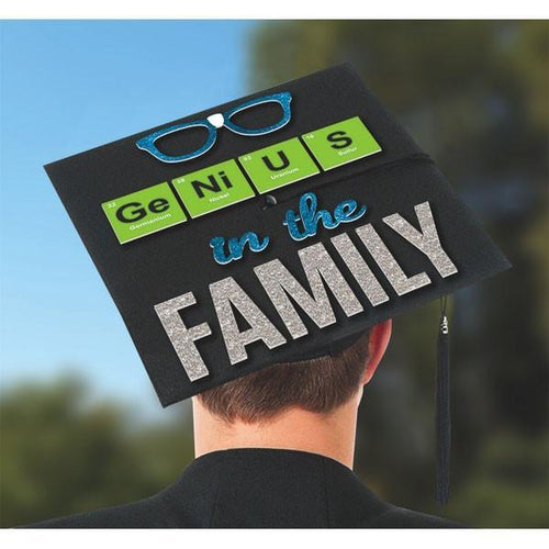 Amscan Graduation Genius in the Family Graduation Cap Decorating Kit
