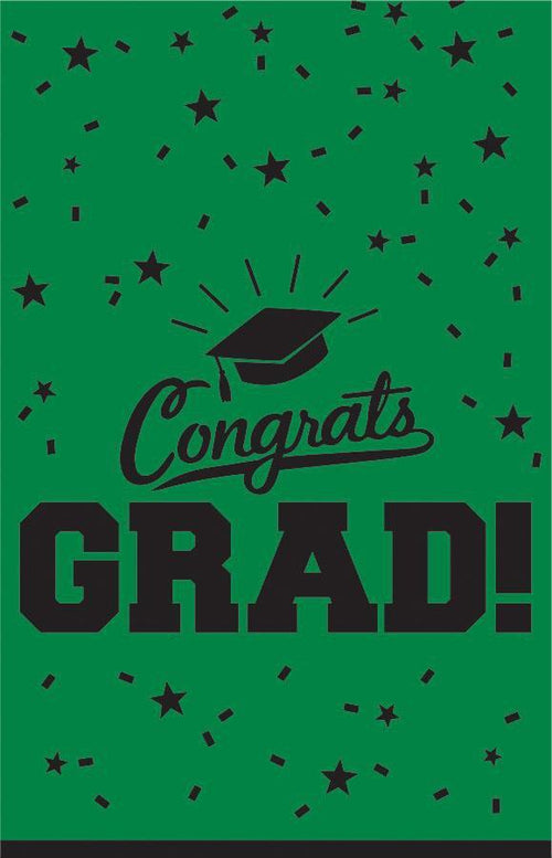 Amscan Graduation Green Congrats Grad Table Cover