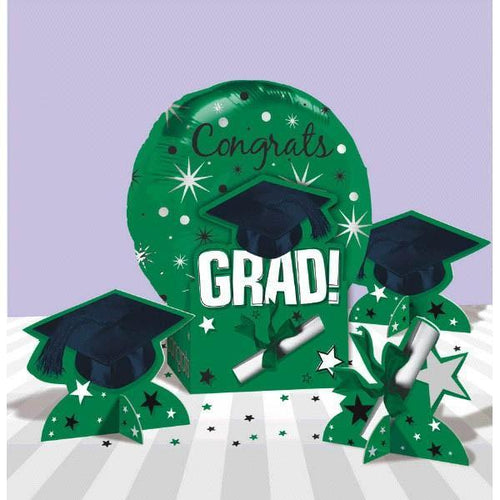 Amscan Graduation Green Graduation Balloon Centerpiece