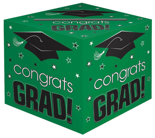 Amscan Graduation Green Graduation Card Holder Box - Congrats Grad