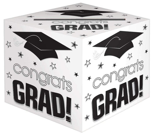 Amscan Graduation White Graduation Card Holder Box - Congrats Grad