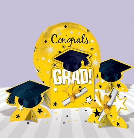 Amscan Graduation Yellow Graduation Balloon Centerpiece