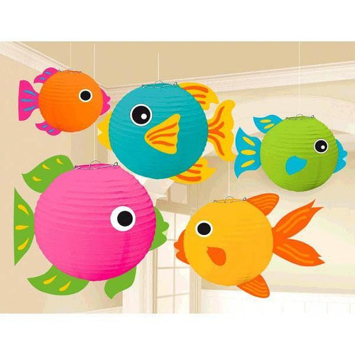 Amscan Luau Luau Fish Lanterns 5pc