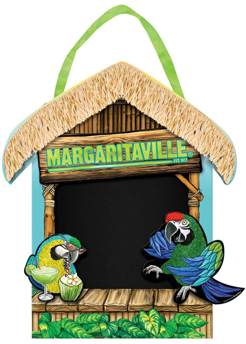 AMSCAN Luau Margaritaville Chalkboard Sign 13 1/2in