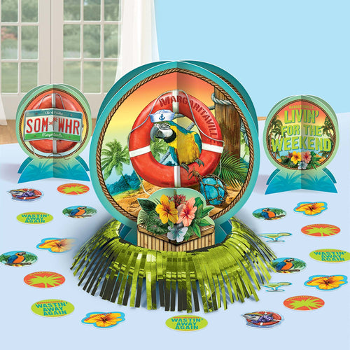AMSCAN Luau Margaritaville® Table Decorating Kit 23pc