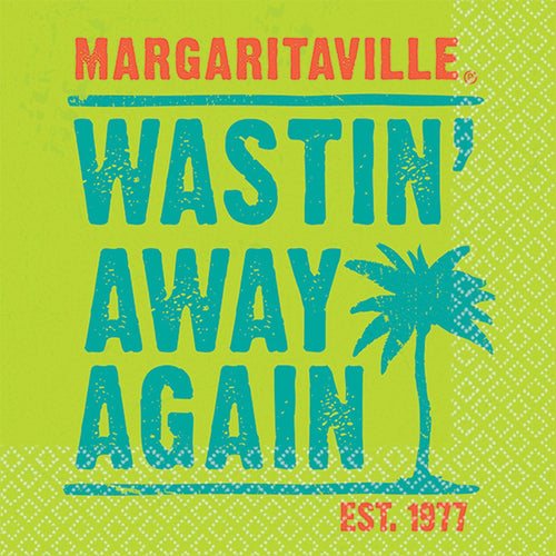 "AMSCAN Luau Margaritaville ""Wastin' Away"" Beverage Napkins 16ct"