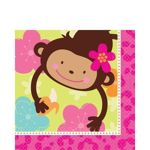 Amscan Luau Monkey Love Lunch Napkins 16ct