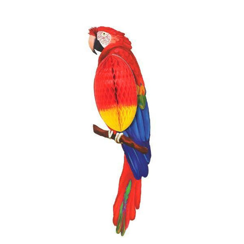 Amscan Luau Parrot Honeycomb Decoration