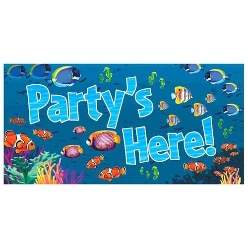 Amscan Luau Tropical Summer Horizontal Plastic Party Banner